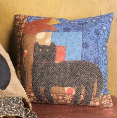 Furnishings & Accessories for the American Country Home Cat Pillow, American Country, Primitive Crafts, Colonial, Kitty, Cabin, Throw Pillows, Decor, Little Kitty