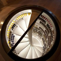 LEDs make a Spiral Cellar the ultimate feature of the room in the evenings & White Spiral Cellar with retractable round glass door - coolest. th ...
