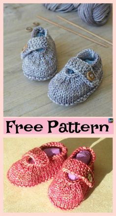 Adorable Knitted Baby Ballerina Booties – Free Patterns – Knitting patterns, knitting designs, knitting for beginners. Baby Knitting Patterns, Baby Booties Knitting Pattern, Knit Baby Shoes, Knitted Baby Cardigan, Crochet Baby Booties, Baby Patterns, Baby Bootees, Free Knitting, Knit Baby Sweaters