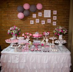 Party tablescape at Kitten Birthday Party via Kara's Party Ideas…