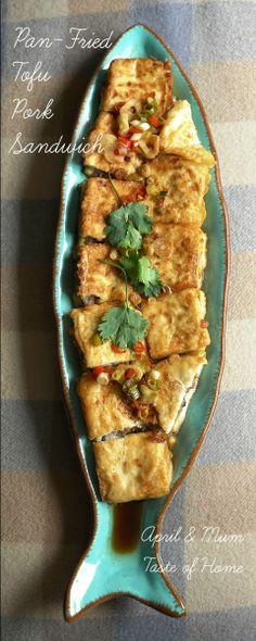 Platter/Tray Inspiration (Recipe for Pan-Fried Tofu Pork Sandwich) Tofu Recipes, Asian Recipes, Snack Recipes, Cooking Recipes, Snacks, Sandwiches, Pork Sandwich, Pan Fried Tofu, I Want Food