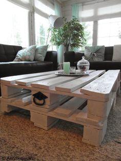 Kuormalavoista sohvapöytä by Annakreeta - Kuormalavat - Pallets - DIY - Kopallinen inspiraatiota