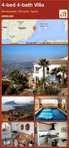 4-bed 4-bath Villa in Benitachell, Alicante, Spain ►€699,000 #PropertyForSaleInSpain