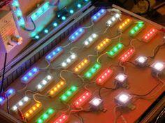 Enseigne lumineuse a LED /LED rvb / lettres découpées avec éclairage led en indirect /  lettres découpées avec éclairage led en direct /  lettres découpées avec éclairage led en point par point / spot led pour enseigne et panneaux publicitaire / rampe lumineuse a led pour panneau pub / Eclairage panneau pub / rubana led pour panneau pub sur www.store.signpub.fr Spot Led, Point, Store, Applique Letters, Larger, Shop
