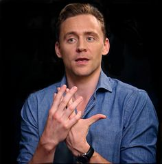 Beautiful Tom's hand expression. ❤️his hands.