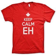 Keep Calm Eh shirt Canada shirt funny tshirts canadien shirt hockey tees