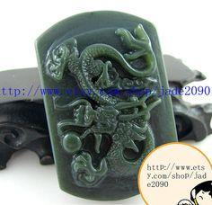 Free Shipping  chinese dragon  green jade jadeite by jadeGift, $20.99