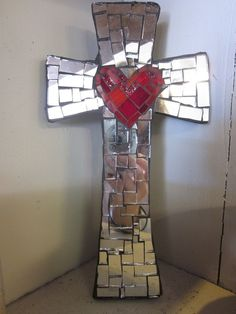 Beautiful mosaic cross  http://www.heritagehousecoffee.com/apps/photos/photo?photoid=116646150