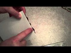 spellbinders video on how to make shaped cards