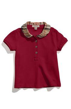 Burberry Check Collar Piqué Polo (Toddler) | Nordstrom