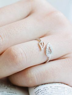 Silver Leaf Of Life Adjustable AD Ring #Ring