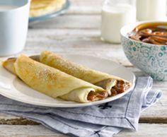Los panqueques más suaves y livianos llevan un toque de Maizena® Sin Gluten, Gluten Free, Foods With Gluten, Crepes, Hot Dog Buns, Recipies, Healthy Recipes, Healthy Food, Bread