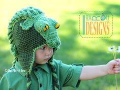 PATTERN Snappy Simon the Crocodile Hat Crochet von IRAROTTpatterns