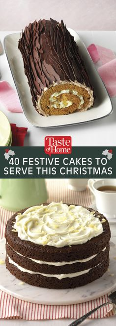 40 Festive Cakes to Serve This Christmas