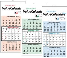 Sheet Traditional Calendar   X  Commercial
