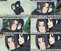 LOL. Itachi and Sasuke. #naruto