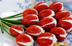 filled-tomatoe-appetizer Food Expert Experiment - Recipe of the day - Delicious Appetite Appetizers - Decoration tips and tricks - Creative food ideas Best Appetizers, Appetizer Recipes, Snack Recipes, Cooking Recipes, Healthy Recipes, Appetizer Ideas, Wedding Appetizers, Tomato Appetizers, Kid Cooking