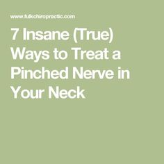 Our Kansas City chiropractors specialize in neck pain treatment. Try these 7 proven and effective ways to treat a pinched nerve in your neck before surgery Pinched Nerve Treatment, Pinched Nerve Relief, Neck Pain Treatment, Pinched Nerves, Nerve Damage In Neck, Nerve Pain, Pinched Nerve In Shoulder, Neck And Shoulder Pain, Numbness In Fingers