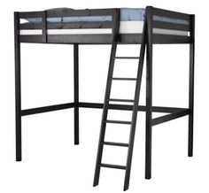 IKEA Stora loft bed frame $299...what about this with a queen (just simple frame) underneath?