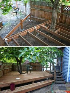 Creative & Inspiring Tree Seats Around Trees: Setting your garden trees with tree seats has always come up to be one of the excellent options for embellishment of the garden areas. Deck Around Trees, Landscaping Around Trees, Backyard Patio, Backyard Landscaping, Hydrangea Landscaping, Country Landscaping, Diy Patio, Landscaping Ideas, Backyard Ideas