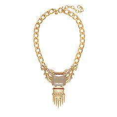 Statement stone fringe necklace - necklaces - Women's jewelry - J.Crew