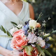 Bohemian Wedding Bouquets Wedding Pictures, Wedding Bouquets, Real Weddings, Floral Wreath, Bohemian, Wreaths, Color, Floral Crown, Wedding Brooch Bouquets