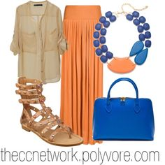 """""""Maxi Skirt Outfit 02"""" by theccnetwork on Polyvore"""