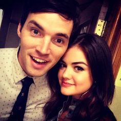 Lucy Hale and Ian Harding (Aria and Ezra, our most missed couple)