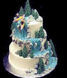 32.Whitewater rafting cake design