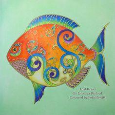 Lost Ocean Johanna Basford Coloured by Peta Hewitt