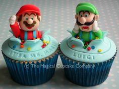 Mario and Luigi cupcakes