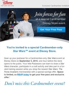 You're invited to an exclusive Star Wars event at the Disney Store