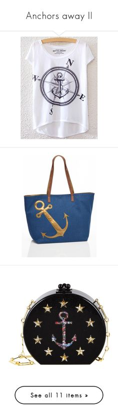 """""""Anchors away II"""" by pistols-n-pearls ❤ liked on Polyvore featuring bags, handbags, clutches, edie parker, obsidian sand, lucite purse, edie parker clutches, chain handle handbags, acrylic purse and lucite handbags"""