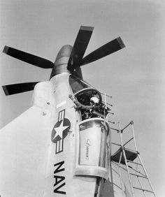 Convair XFY-1 Pogo - Was an Experiment in Vertical Takeoff and Landing, had Delta Wings and 16 ft Three Bladed Contra-Rotating Propellers – Powered by: 1 × Allison YT40-A-6 Turboprop Engine, Rated at: 5,100 shp – Pilot's Seat was Mounted on Gimbals Allowing Movement from 45° in Vertical Flight to 90° in Horizontal Flight  - Proposed Armament: 4 x 20mm Cannon and 48 x 2.75 Inch (70mm) Mk.4 Folding-Fin Arrial Rockets - 3 Built 1 Flew (1)