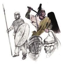 Iron Age, Character Inspiration, Character Art, Character Design, Warrior Drawing, Rome Antique, Roman Legion, Celtic Warriors, Celtic Culture