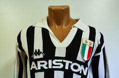MATCH WORN JUVENTUS 1984/1985 HOME FOOTBALL SHIRT MAGLIA JERSEY KAPPA SCIREA #6 | eBay