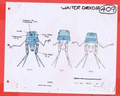 Star Wars Droids Original Cartoon Production WAITER DROID Model Cel #BV965