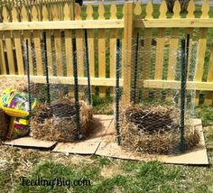 Potato Towers at FeedingBig.com My experiment with growing potatoes in a tower made from chicken wire. http://www.feedingbig.com/2013/04/potato-tower-living-big-on-less-money.html