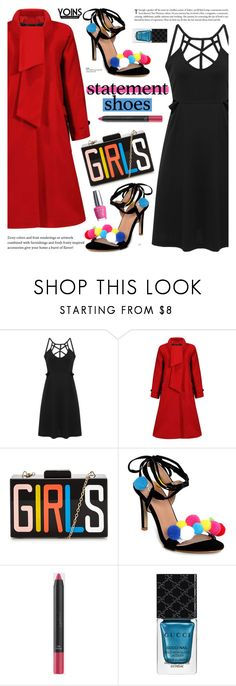 """""""Statement Shoes - Yoins 2"""" by cly88 ❤ liked on Polyvore featuring Gucci and OPI"""