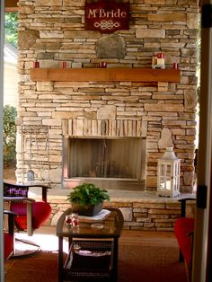 Love limestone (??) fireplaces