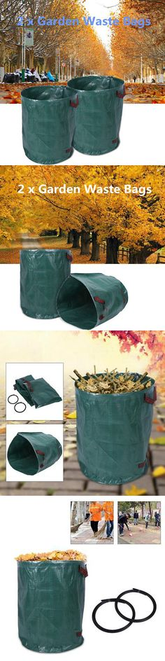 2 Pcs Large Garden Woven Bag Waste Refuse Rubbish Grass Recycling for sale online Garden Waste Bags, Grass, Recycling, Stuff To Buy, Ebay, Grasses, Upcycle, Herb