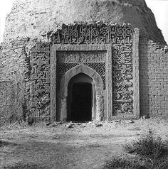 View from south showing portal w/ inscription. Ziyarat-i Baba Hatim, Emam Sahib, Afghanistan  Photo Josephine Powell