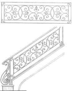 Fleur De Lis Railing   Railing Designs   Hand Railing