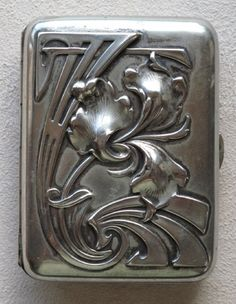art nouveau silver cigarette case