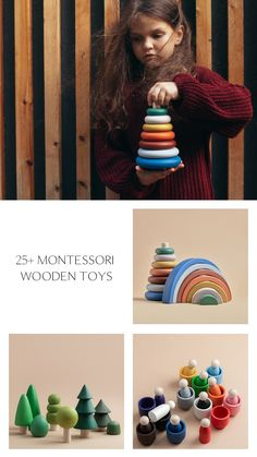 25 Montessori Wooden Toys for Toddlers by HappyTreeStore. Rainbow | Pyramid | Forest | Alphabet | Sorting Games. Christmas Kids gift. Waldorf and Educational toys is the best gift for your baby. Our toys are made of environmentally friendly materials for kids of any age. #wood #education