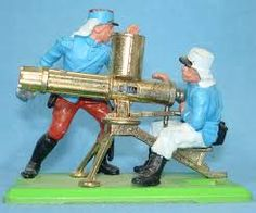 Britains Deetail 792 & 793, French Foreign Legion Gatling Gun with crew.