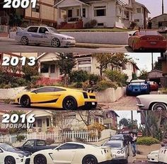 Don't you think this is the house of Paul walker in fast and furious house that got blasted by Statham. Car Jokes, Car Humor, Paul Walker, Supercars, Image Hd, Nissan Gt, Ride Or Die, Modified Cars, Nissan Skyline