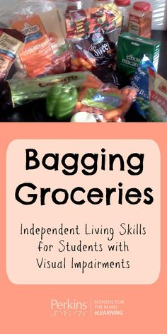 Bagging groceries is a functional activity that can address many skills at the same time, including independent living skills, cognitive concepts, spatial awareness, and motor skills. Free Baseline assessment for your child Vocational Activities, Vocational Tasks, Activities For Adults, Therapy Activities, Sensory Activities, Career Education, Special Education, Life Skills Lessons, Self Help Skills