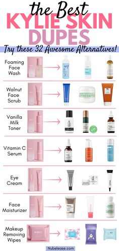The new Kylie Skin line by Billionaire Kylie Jenner has everyone in the beauty community talking. Find out what the hype is all about PLUS 32 Kylie Skin Care Line Product Dupes! Best Picture For natural skin care Diy Deodorant, Mac Velvet Teddy, Skin Care Regimen, Skin Care Tips, Beauty Care, Beauty Skin, Beauty Tips, Beauty Hacks, Diy Beauty
