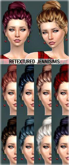Jenni Sims: Newsea`s Sakura hair retextured  - Sims 4 Hairs - http://sims4hairs.com/jenni-sims-newseas-sakura-hair-retextured/
